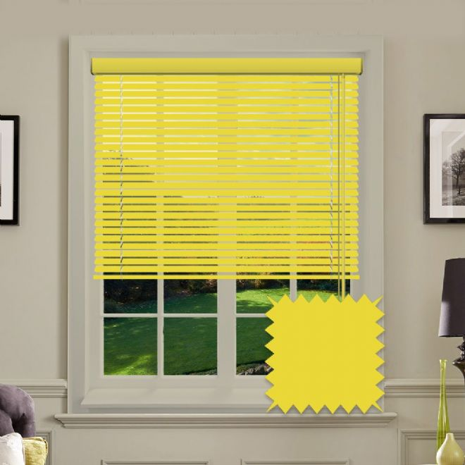 Sumer Yellow venetian blind  - Just Blinds